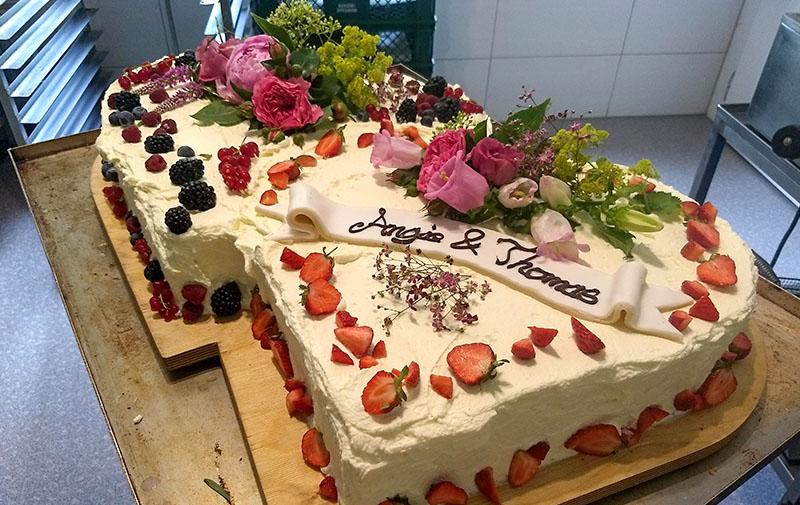 Backwaren, Kuchen & Torten, Hochzeitstorte Mit Namen
