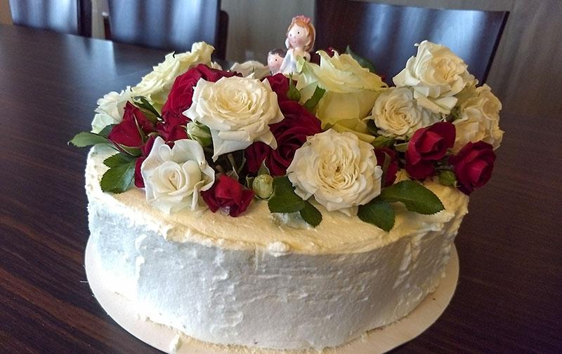 Kuchen & Torten, Hochzeits-Sahnetorte